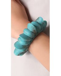 Pamela Love - Blue Tribal Spike Cuff - Lyst