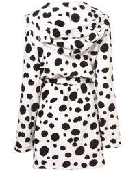 TOPSHOP - Multicolor Dalmatian Fluffy Pj Robe - Lyst