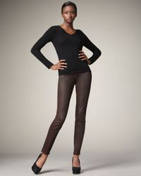 7 For All Mankind | Metallic Skinny Gunmetal Ombre Jeans | Lyst