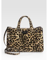 Kate Spade | Multicolor Brette Leopard-print Patent Leather Tote Bag | Lyst
