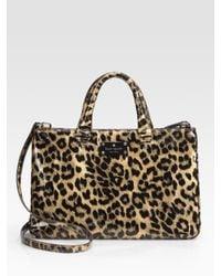 kate spade new york | Multicolor Brette Leopard-print Patent Leather Tote Bag | Lyst