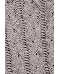 McQ - Gray Asymmetric Cable-knit Sweater - Lyst