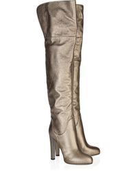 Sergio Rossi | Metallic Leather Over-the-knee Boots | Lyst