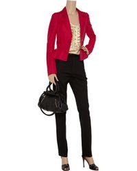 Carolina Herrera - Red Peplum Faille Jacket - Lyst