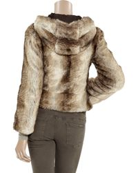 Juicy Couture - Brown Rex Faux Fur Hooded Jacket - Lyst