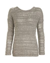Vince - Natural Loose Knit Sweater - Lyst