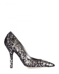 Dolce & Gabbana | Metallic Sequin Embellished Shoe | Lyst