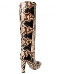 Valentino - Multicolor Hand Painted Python Boots - Lyst