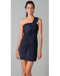 BCBGMAXAZRIA - Blue Palais One Shoulder Dress - Lyst