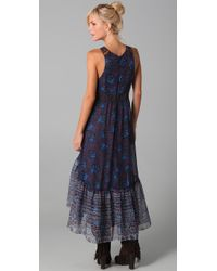 Free People | Blue Native Rose Dress | Lyst