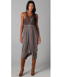 Free People | Gray Fp New Romantics Adriatic Queen Dress | Lyst
