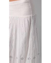 Free People - White The Beaded Midnight Maxi Skirt - Lyst