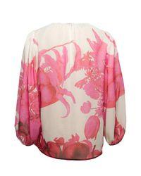 Giambattista Valli - Multicolor Silk Floral Blouse - Lyst