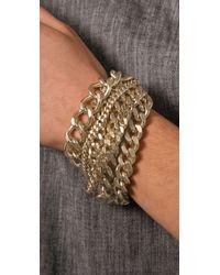 Giles & Brother - Metallic Giant Multi Chain Bracelet - Lyst