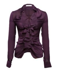 Givenchy | Purple Ruched Blouse | Lyst