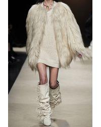 Isabel Marant   Natural Mamum Goat Hair Coat   Lyst