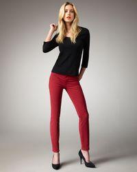 J Brand   Mid Rise Skinny Twill Jeans In Black Cherry   Lyst