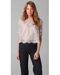 Joie | White Fanny Lace Top | Lyst