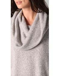 Joie | Gray Wesley Marble Cowl Neck Sweater | Lyst