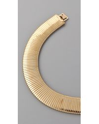 Kenneth Jay Lane - Metallic Thick Snake Chain Bib Necklace - Lyst