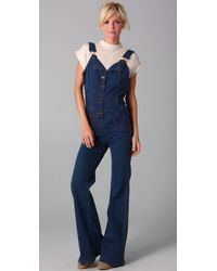 Nightcap | Blue Dazed Denim Jumpsuit | Lyst
