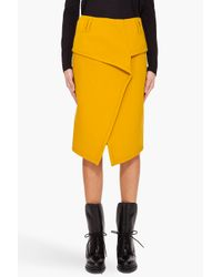 Proenza Schouler | Yellow Blanket Wrap Skirt | Lyst