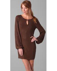 Sheri Bodell - Brown Crystal Belle Mini Dress - Lyst