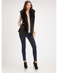 Sherry Cassin | Black Faux Fur Vest | Lyst
