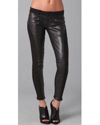 Siwy | Black Mick Leather Panel W/ Zip | Lyst