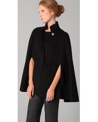 Theory - Black Miliena Divide Cape - Lyst