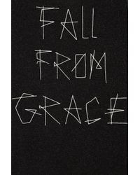TOPSHOP - Gray Fall From Grace Logo Tee - Lyst