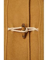 TOPSHOP - Yellow Bound Seam Duffle Coat - Lyst