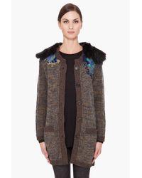 Vanessa Bruno | Brown Embroidered Cardigan | Lyst