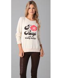 Wildfox - White Long Haired Boys Baggy Beach Sweatshirt - Lyst