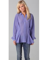 Acne Studios | Purple Shining Blouse | Lyst