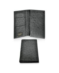 A.Testoni | Black Ostrich Coat Wallet | Lyst