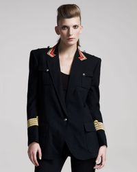 Balmain | Blue One-button Captains Jacket | Lyst