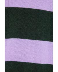 J.Crew - Black Striped Cashmere Turtleneck Sweater - Lyst