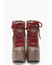 Jeffrey Campbell - Brown Everest Booties - Lyst