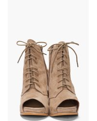 Jeffrey Campbell | Brown Sherman Booties | Lyst