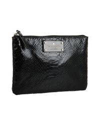 kate spade new york - Black Foiled Again Little Gia Cosmetics Case - Lyst