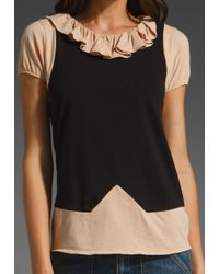 Marc By Marc Jacobs   Brown Fosse Colorblock Jersey Top   Lyst