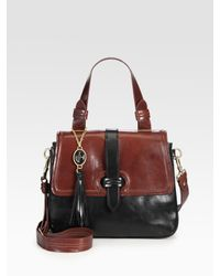 Nanette Lepore | Black Two-tone Small Satchel | Lyst