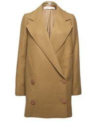 Stella McCartney | Natural Camel Coat | Lyst