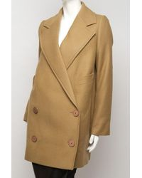 Stella McCartney | Natural Camel Coat | Lyst