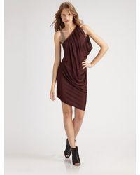 VPL   Purple Draped One-shoulder Dress   Lyst