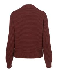 TOPSHOP | Purple Knitted Rib Shawl Cardigan | Lyst
