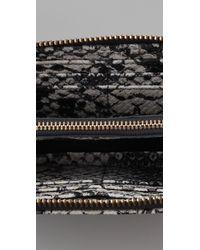 Marc By Marc Jacobs - Black Supersonic Snake Print Slim Zip Wallet - Lyst