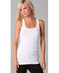 Splendid - White Ribbed Tank - Lyst