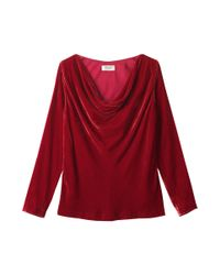 Toast | Red Silk Velvet Cowl Neck Top | Lyst